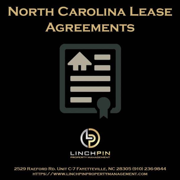 north carolina sample lease agreement fayetteville property management