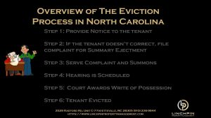 steps to evict a tenant in north carolina